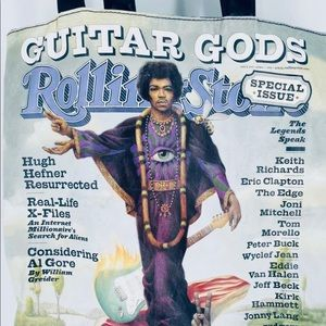 Jimi Hendrix Tote Bag Rolling Stone